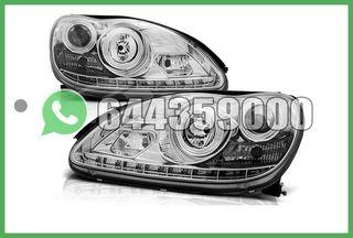FAROS LED CROMO MERCEDES CLASE S W220
