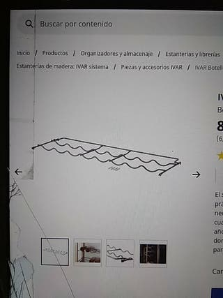 Botellero IVAR de Ikea