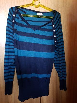 Camiseta embarazada manga larga talla 38/40