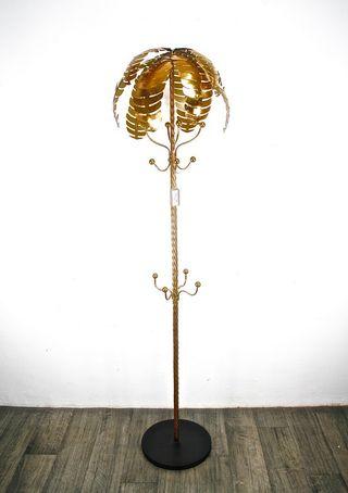 PERCHERO PIE PALMERA DORADA 180cm