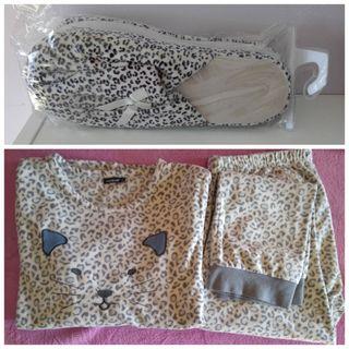 Pijama XL, zapatillas 41 NUEVAS, Moda Leopardo