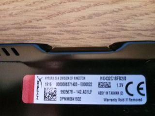 DDR4 Kingston Hyperx 3200 8gb