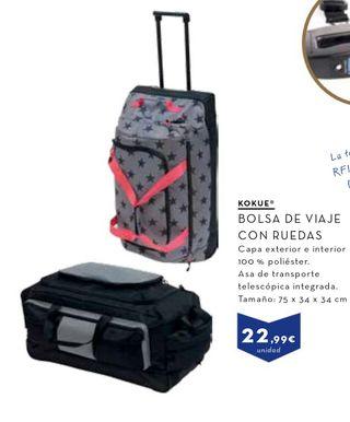 Bolsa de viaje maleta grande con asa y ruedas