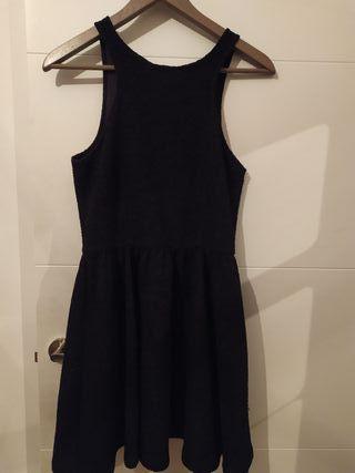 Vestido corto negro cremallera Talla M