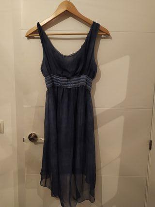 Vestido azul corto tela gasa (precio negociable)