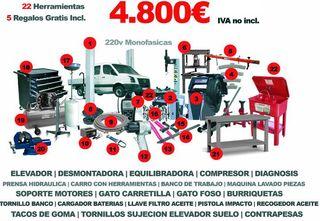 herramientas taller maquinaria equipamiento coches