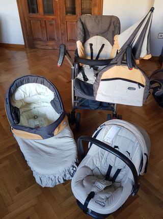 trio carro bebé silla capazo maxicosi BEBECAR