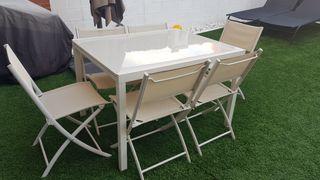 Conjunto jardin con 6 sillas