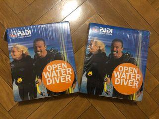 Curso libro buceo open water marca Padi