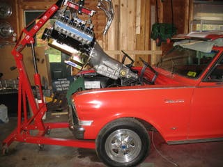 grua de motores taller pluma hidraulica motores 2T