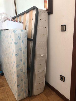 Vendo colchón y somier de 135cm