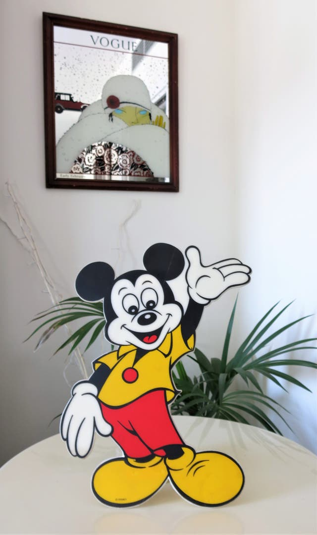 Lámpara vintage alemana Mickey Mouse Disney