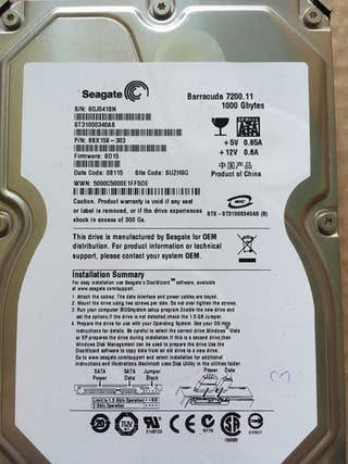 Seagate disco duro SATA 1 TB 3.5
