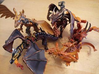 Figuras Dragones Colección