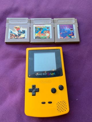 Game boy color con 3 juegos