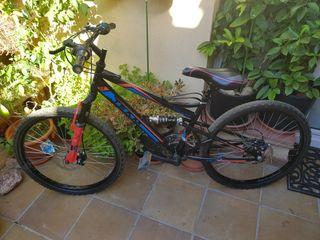 bicicleta montaña doble suspensión