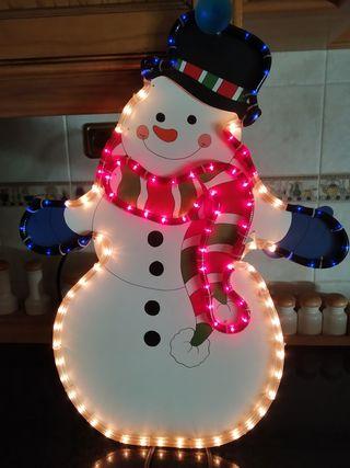 Muñeco de nieve LED Navidad.