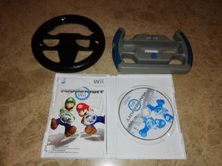 Mario kart con volantes wii