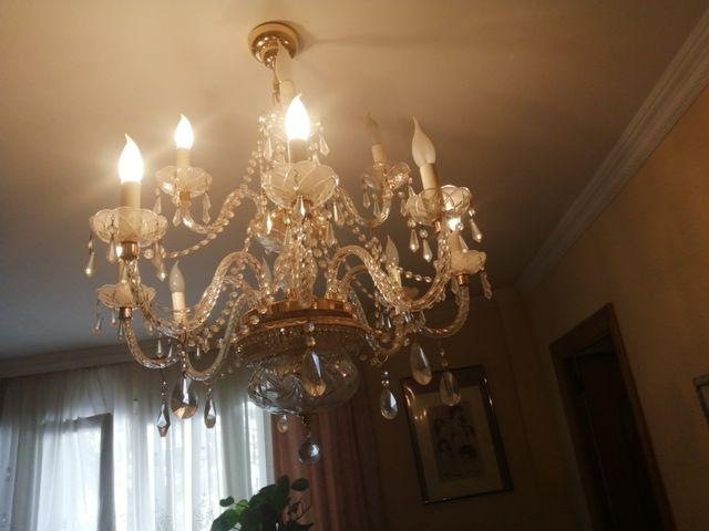 lampara de araña de cristal colgante