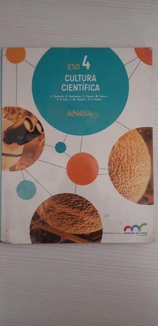 Libro de Cultura Cientifica 4° ESO