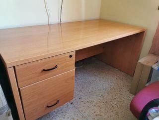 Mesa de Oficina. 160x80cm. Con Cajón y Archivador