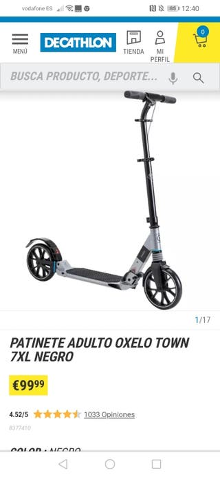 patinete oxelo adulto