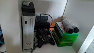 xbox360 con muchos juegos y micros originales