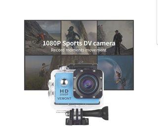 Cámara Deportiva tipo GoPro 1080PHD Impermeable