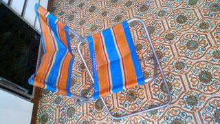 Sillas y mesa plegable de camping
