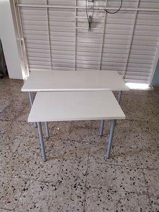 Mesas blancas para Oficina o uso doméstico.