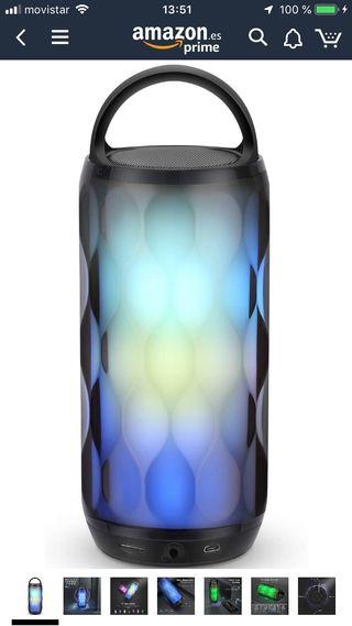 Altavoces Bluetooth Portatiles con Luz