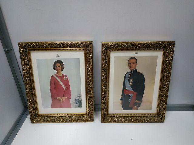 cuadros antiguos en madera de los reyes de España