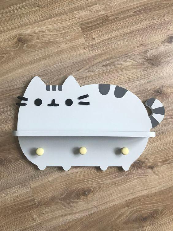 perchero de gatito