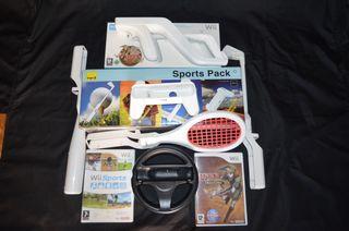 Wii accesorios y 2 juegos