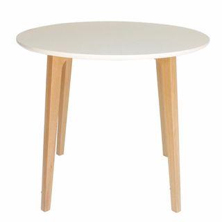 Mesa de cocina redonda de madera