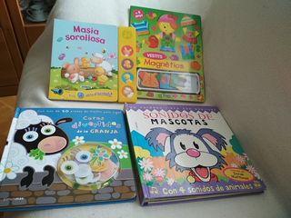 lote 2 cuentos más regalo niños 2 años