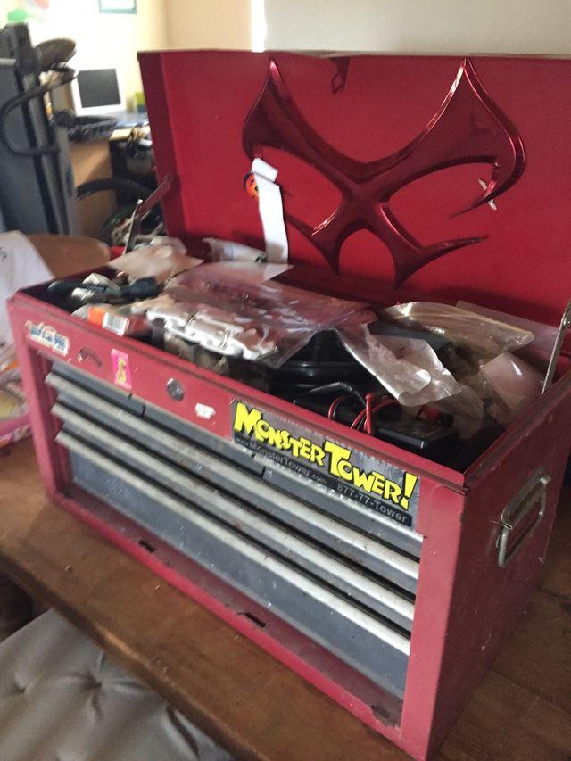 Six drawer mechanic steel toolbox