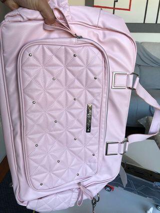 Bolsa rosa bebé MAYORAL con bolsa para chupete