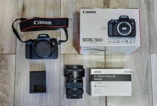 Cámara Canon 760D