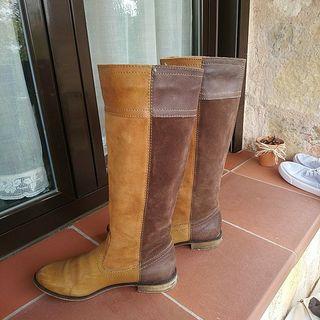 botas bicolor