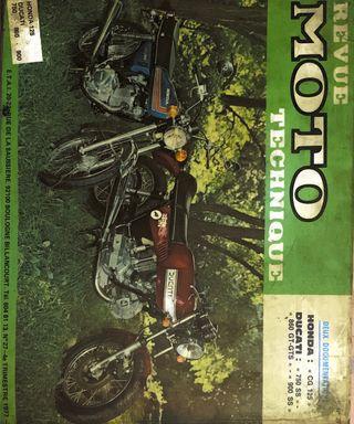Revista -Revue moto technique HONDA -DUCATI 1977