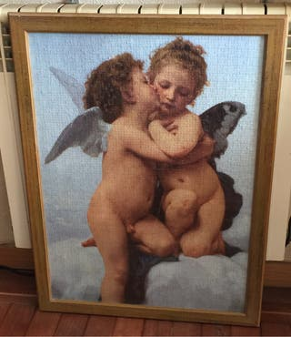 Cuadro puzzle enmarcado beso angeles