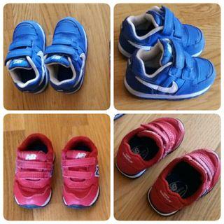 zapatillas Nike y New balance niño