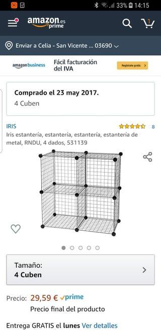 estructura metálica para estantería o jaula de mas