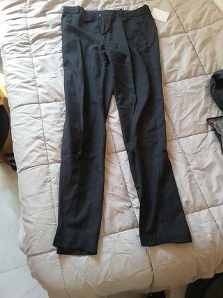 pantalones de vestir niño talla:14 color:negro
