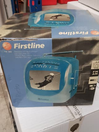 T V Radio portatil firstline 5'5 blanco negro