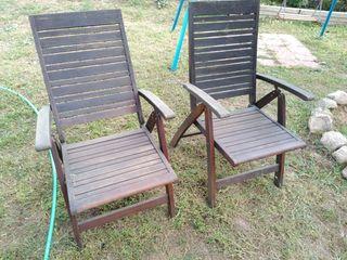 Mesa de teca - teka con 4 sillas y dos hamacas