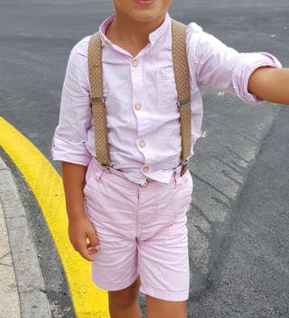 Camisa rayas rosas talla 3 años