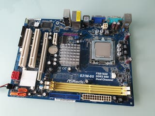 Placa Base ASROCK G31M-GS + Procesador