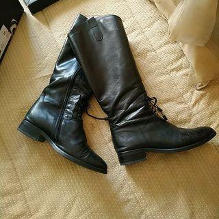 botas bajas negras